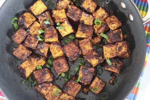 Spicy Vegan Peanut Butter Tofu | Gluten Free, Healthy